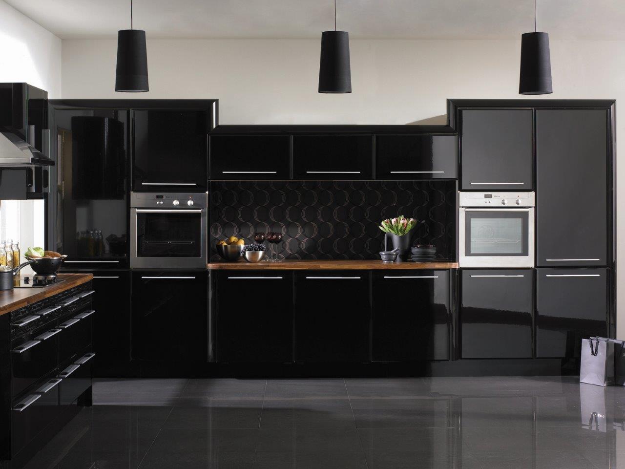 High Gloss Black Pisa Kitchen